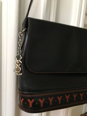 "Orig. YSL Yves Saint Laurent Handtasche Vintage Tasche ""Y"" logo cut out monogram crossbody"