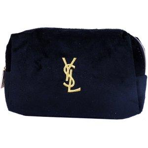 ORIG. YSL YVES SAINT LAURENT LOGO SCHMINKTASCHE Beauty Makeup Bag / NEU