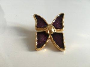 Orig. YSL Yves Saint Laurent Schmetterling Butterfly Anstecker Brosche Hochzeit