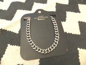 Orig. Zara Kette Statement necklace Glieder Panzer Silber