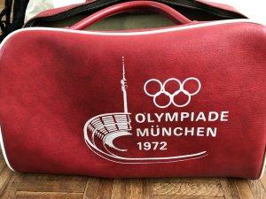 Adidas Originals Bolso de bolos rojo ladrillo Cuero