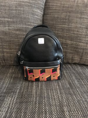 Original 2 in 1 MCM Rucksack und Tasche Clutch schwarz