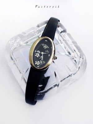 Original 60er Jahre Uhr Meister Anker Jugendstil Design Gold Schwarz