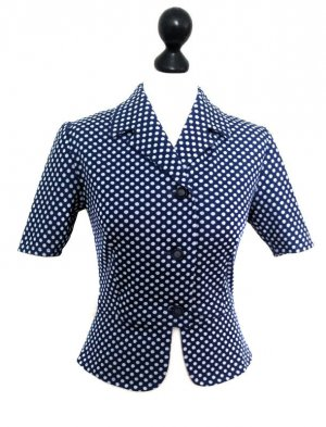 Original 60ies Polkadot-Bluse retro vintage