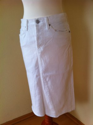 Original 7 for all Mankind Jeans Rock, weiß, Gr. 25, neu