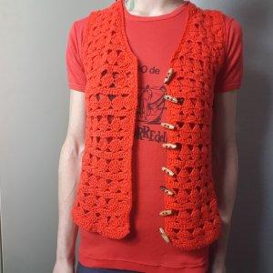 Vintage Camisa tejida rojo