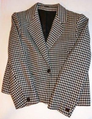 Knitted Blazer black-white wool