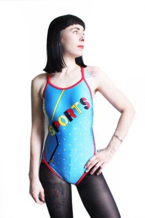 Original 90s Olympia One Piece Gym Bodysuit Swimsuit