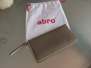 abro Wallet grey brown-oatmeal leather