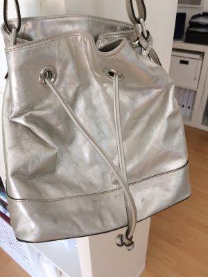 Original abro-Tasche Silberner Lederbeutel