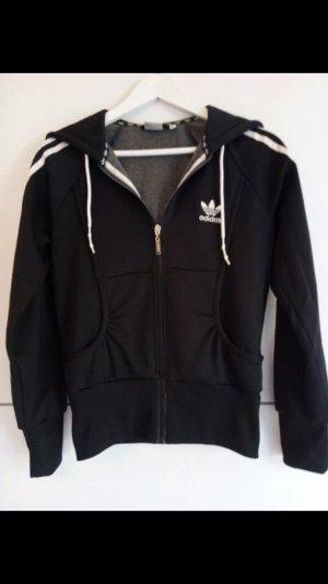 Adidas Veste à capuche noir-blanc