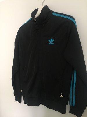 Adidas Chaqueta estilo universitario negro-azul