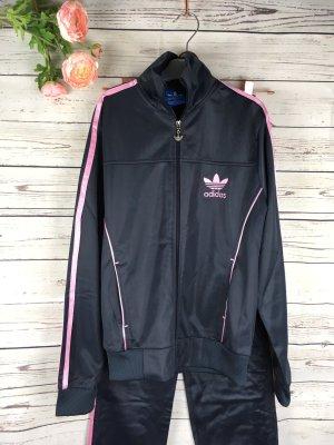 Original Adidas Jogging Anzug Set Neu Grau Rosa Sportanzug