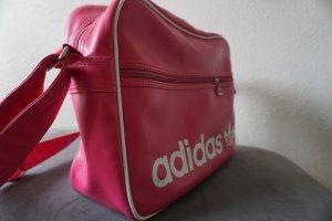 Original ADIDAS Leder - Umhängetasche pink