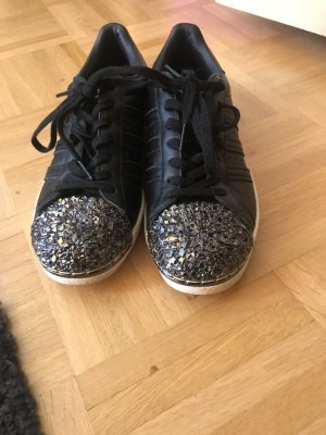 Original Adidas Metaltoe schwarz Glitzer weiß bling bling