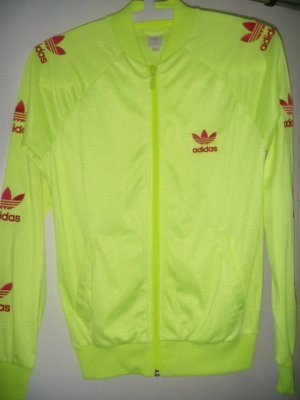 Original Adidas Retro Trainingsjacke in neongelb, S, #selten #rare