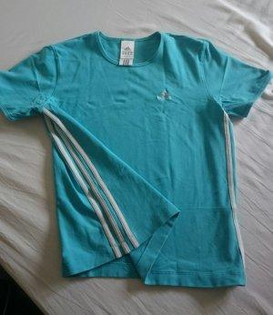 Adidas T-shirt de sport turquoise-blanc coton