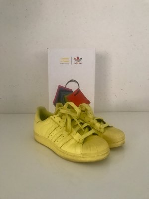 "Original Adidas Superstar by Pharrell Williams ""Bright Yellow "" Gr. 37/1/3"