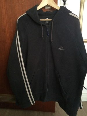 Adidas Fleece jack donkerblauw-blauw