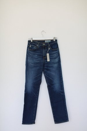 Original AG Jeans Denim dunkelblau Used Vintage Look Neu mit Etikett Gr. 26 High Waist
