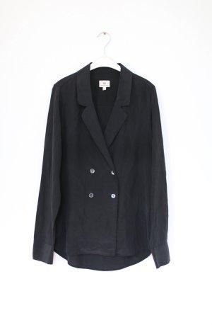 Original AG Jeans Seidenbluse Hemd schwarz Wildseide Gr. S Blazer
