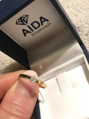 Original AIDA Diamonds 333 Goldring mit Brillant