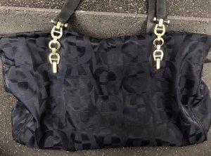 Original Aigner Handtasche dunkelblau gold