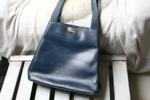 Original AIGNER Ledershopper, Shopper, Tasche, Schultertasche, Handtasche, blau