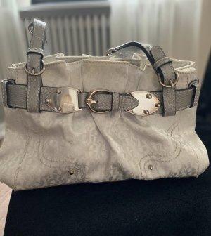 Original Aigner Tasche weiß silber