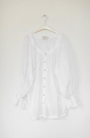 Original Aje Bluse weiß Baumwolle Vintage Look One Size Oversized