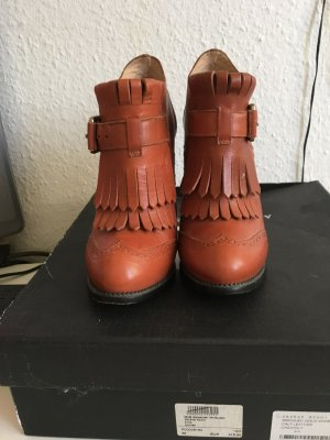 Alexander McQueen Slip-on Booties cognac-coloured
