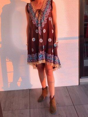 Ananya Hippie Dress brown