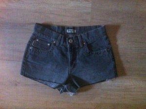 Original Angel high waist shorts 80er 90er verwaschenes Grau (stretch )