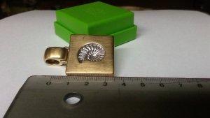 Original Anhänger Pierre Lang Ammonit gold matt gom minimale Tragespuren