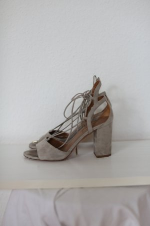 Aquazzura Roman Sandals silver-colored suede