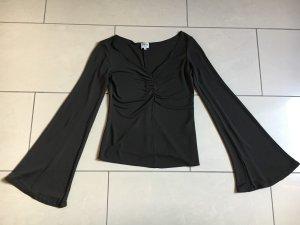 Original Armani Collezioni Damen Oberteil Bluse Top braun schlamm wie NEU NP289€