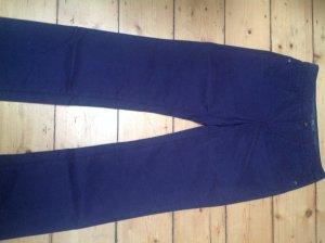 Armani Collezioni Pantalon cinq poches violet foncé tissu mixte