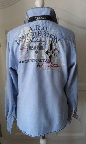 original ARQUEONAUTAS Oxford Bluse Gr.L Hellblau wenig getragen