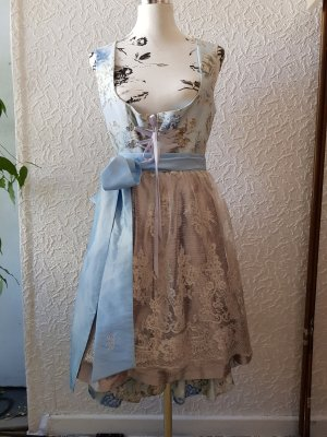 Astrid Söll Dirndl silver-colored-baby blue