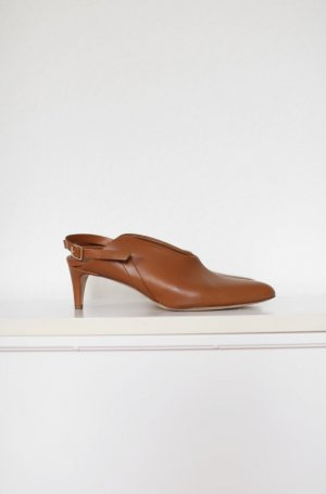 Original ATP Atelier Schuhe Pumps Gr. 38 echtes Leder Vintage Look Braun
