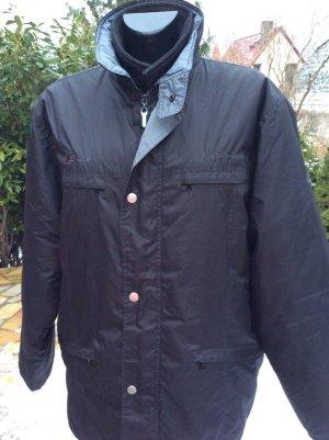 Outdoor jack donkerblauw-zwart Polyester