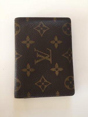 Original Auth Louis Vuitton vertikale Falttüren Pass Card Case
