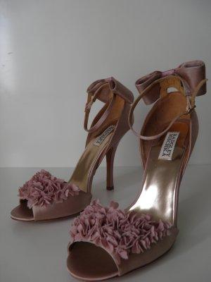Original Badgley Mischka Sandale High Heel Gr. 39 rosa Blumen Schleife