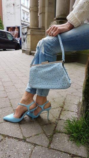 Original Balenciaga Clutch Bag aus Straußenleder