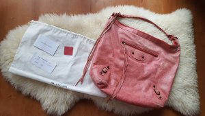 Original Balenciaga day bag hobo in rosa mit Rechnung