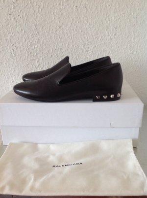 Original BALENCIAGA Loafer Ballerinas Slipper Slip ON 37,5 NEU schwarz Tasche