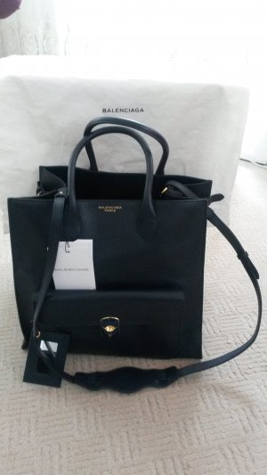 Balenciaga Carry Bag dark blue leather