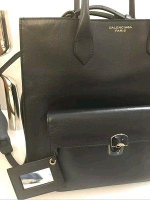 Balenciaga Carry Bag dark blue leather