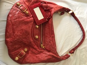 Balenciaga Handbag brick red-dark red leather