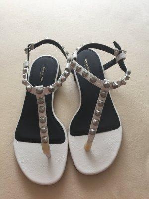 Balenciaga Sandalo toe-post bianco-nero